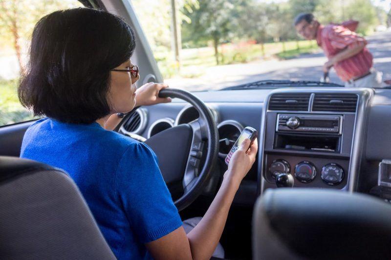 Un accident sur dix environ est lié à l'utilisation d'un téléphone portable au volant