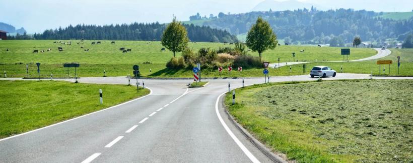 rond-point ou carrefour giratoire